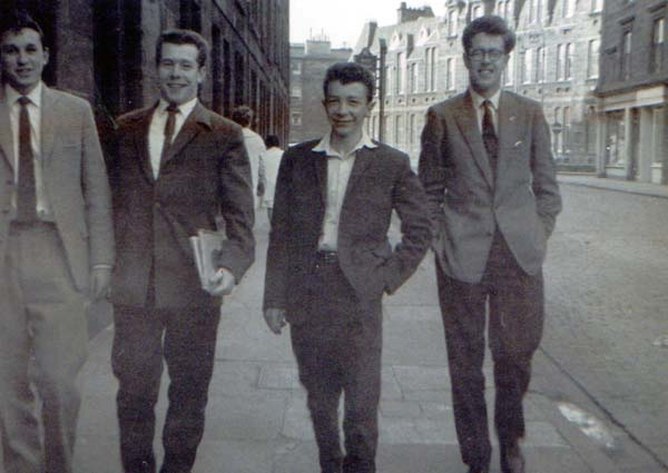 Four Young Men Walking Along The Street 1950s