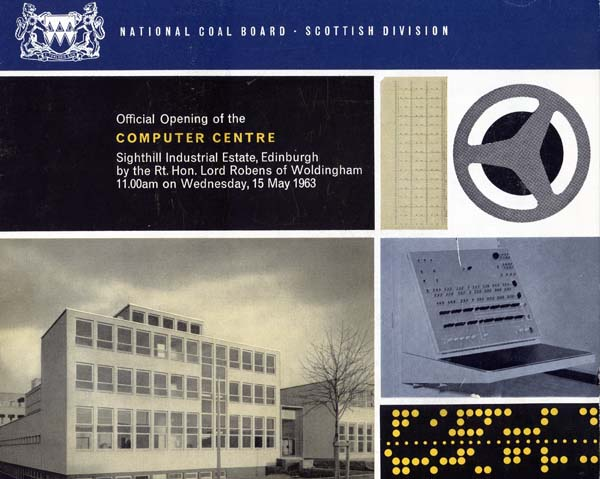 Opening of the National Coal Board Computer Centre, Scotland 1963