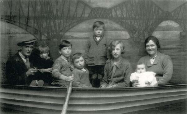 Studio Portrait Family In Rowing Boat c.1926