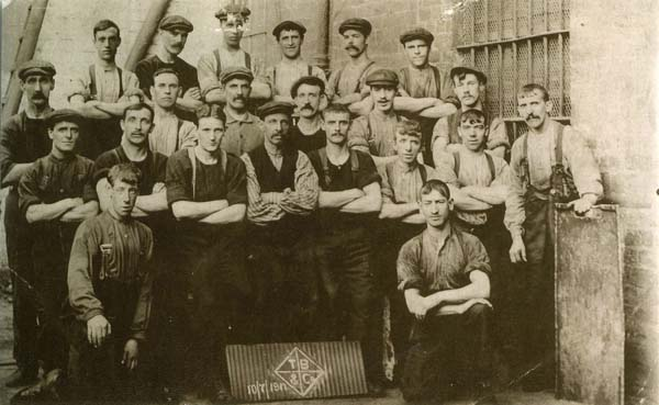 Workers At BOCM (British Oil and Cake Mills, 10th July 1917