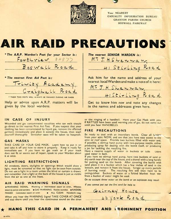 Air Raid Precaution Poster 1940s