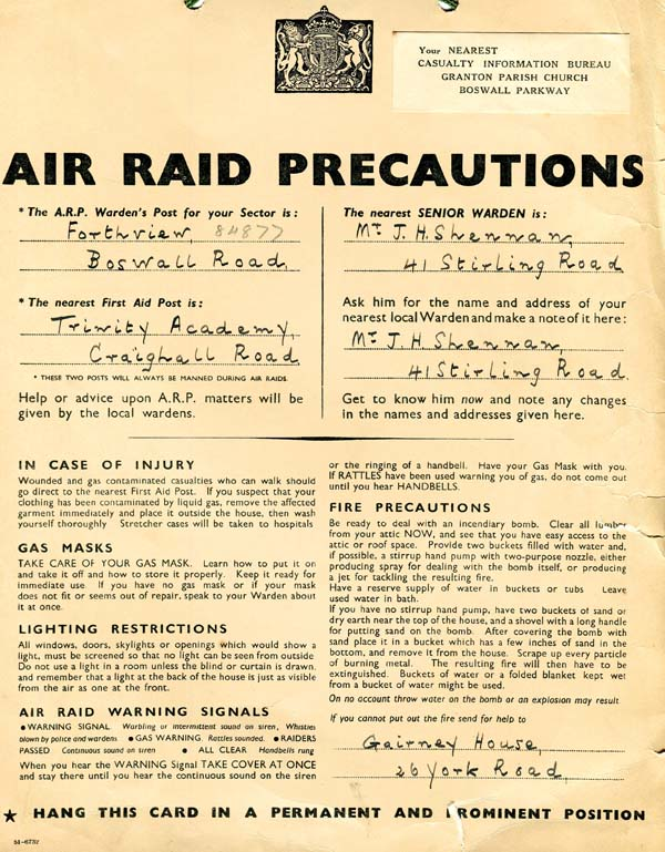 Air Raid Precaution Poster 1940s