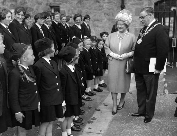 Queen Mother With The Lord Provost On A Visit To James Gillespie's School c.1965