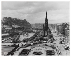 Castle and Princes Street from North British Hotel