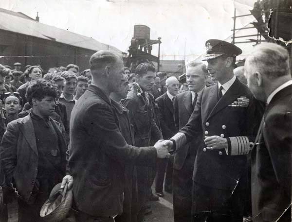 George VI Greeting Workers At Henry Robb's Shipyard, 29th July 1943