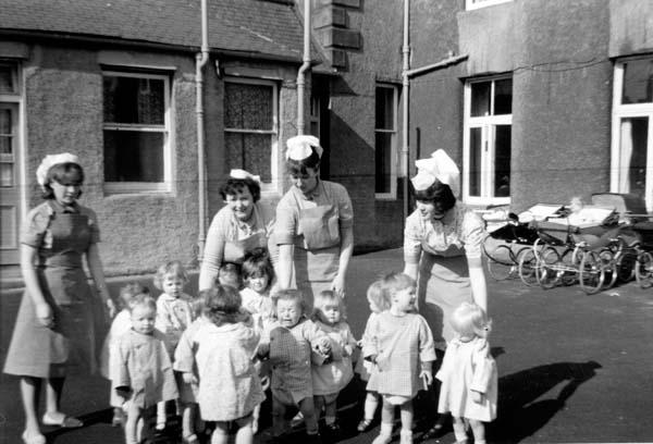 Nursery Nurses With Children 1960s