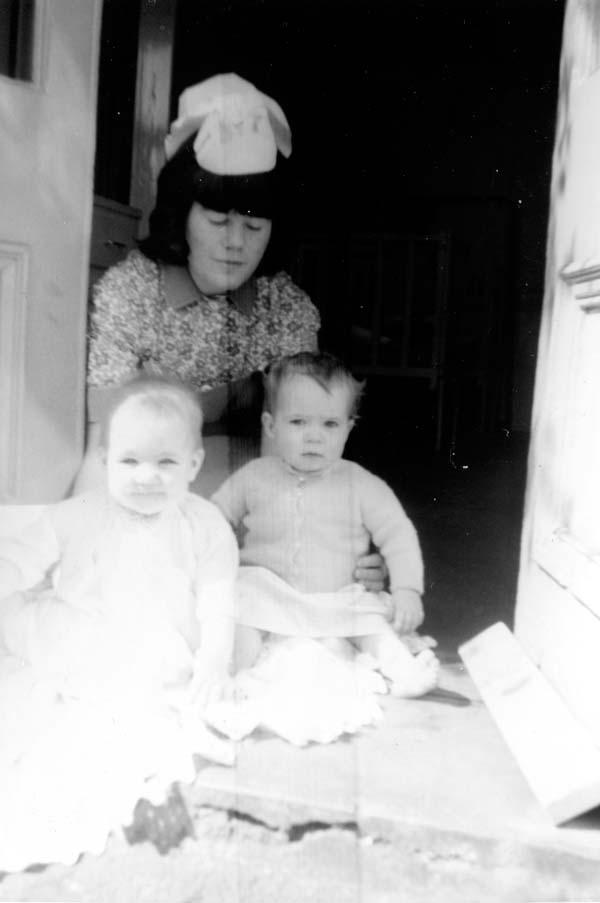Nursery Nurse With Two Infants 1960s