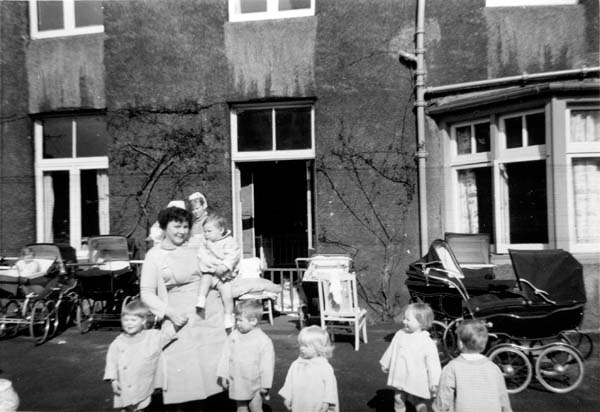 Nursery Nurse With Children In Her Charge 1960s
