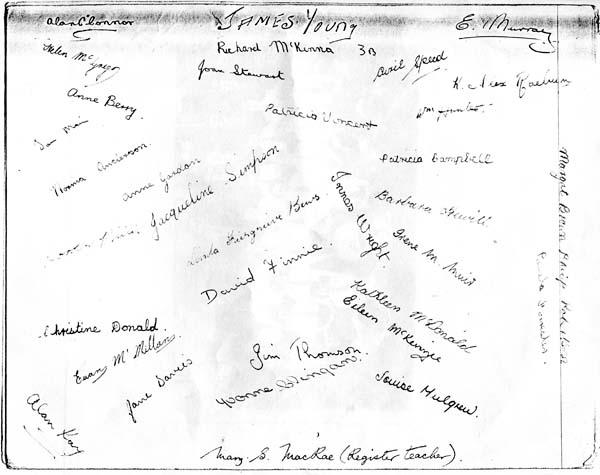 School Portrait Trinity Academy Class Signatures 1954-58