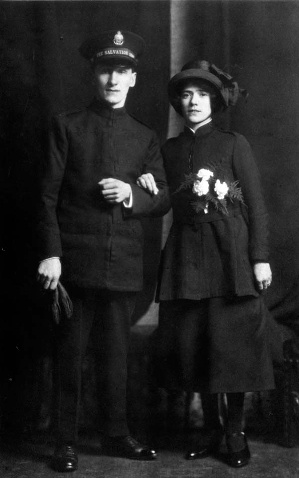 Salvation Army Husband And Wife Just Married 1925