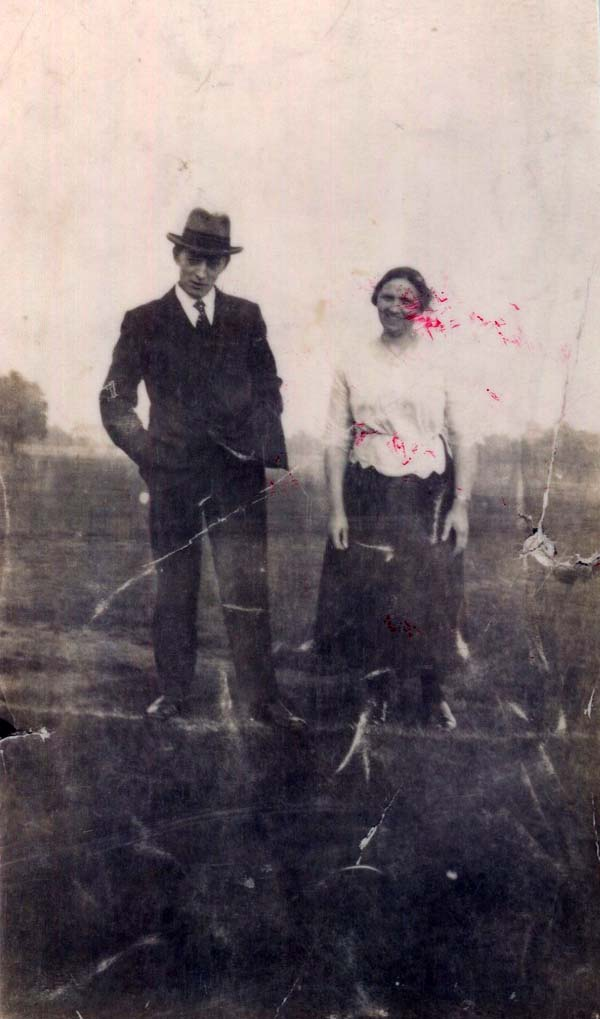 Couple Out For A Walk c.1920