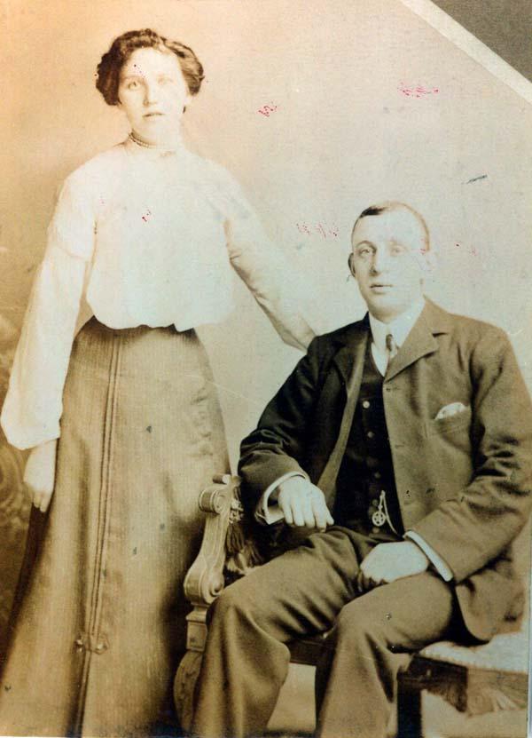 Couple Studio Portrait 1910s