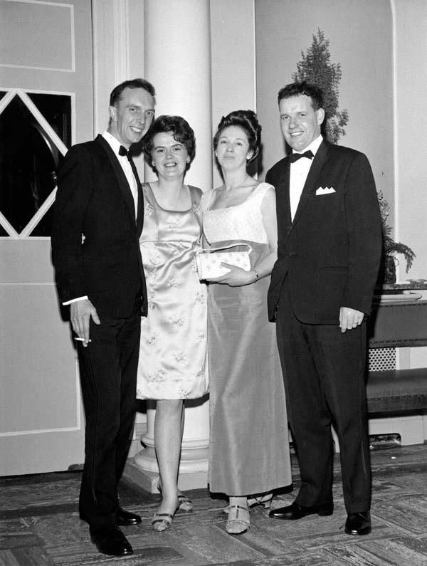 Two Couples On An Evening Out At The Assembly Rooms c.1959