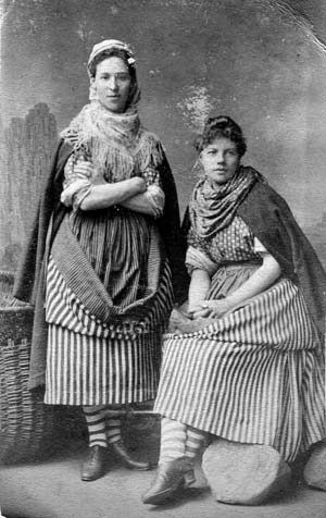 Studio Portrait Two Fishwives 1890s