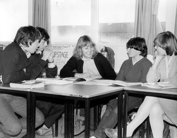 Greendykes School Class Lesson 1980s
