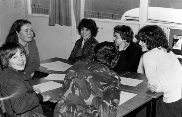 Pupils Round Desk At Greendykes School 1980s