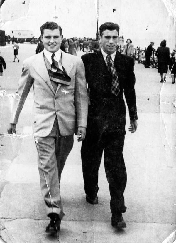 Two Young Men Strolling Down Portobello Promenade, late 1940s