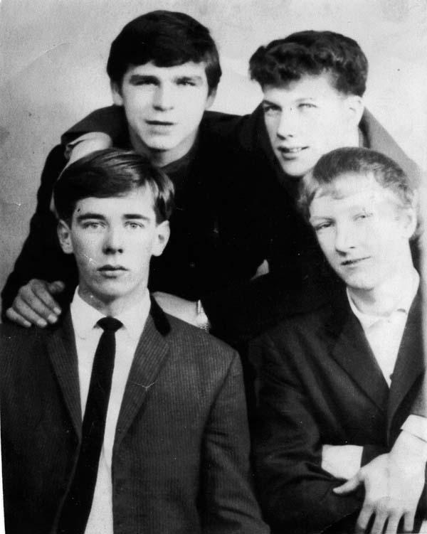 Group Portrait Four Lads 1960s