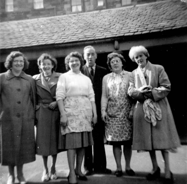 Cleaners At St Mary's Primary School 1960s