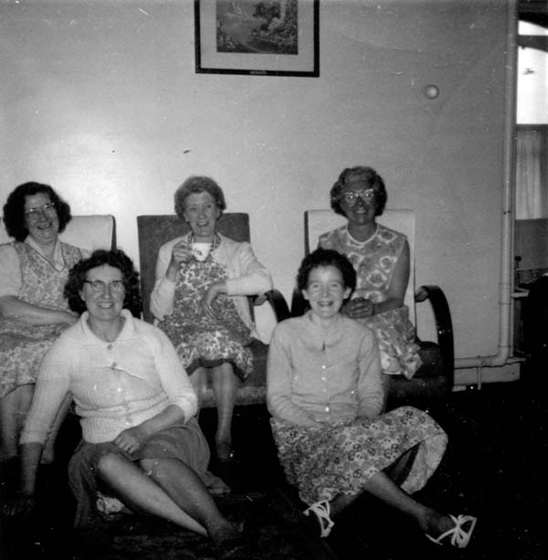 Cleaners At St Mary's Primary School Sitting In Staffroom 1960s