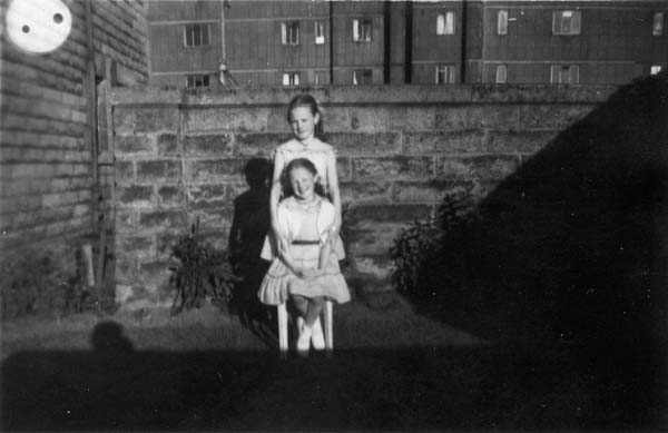 Two Sisters In The Back Garden c.1960