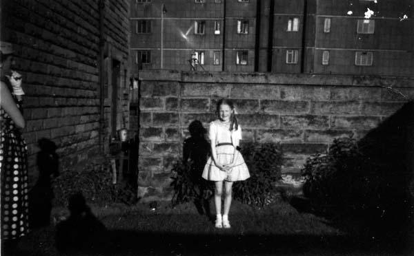 Girl Having Her Photograph Taken In The Back Garden c.1960