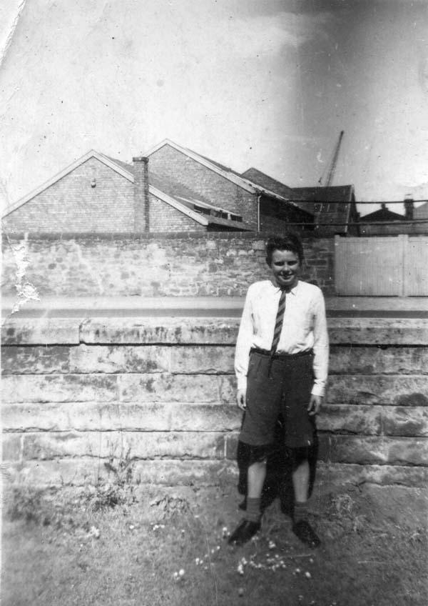 Schoolboy Standing In The Front Garden c.1960