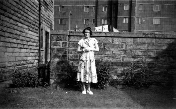 Woman Standing In the Back Garden c.1960