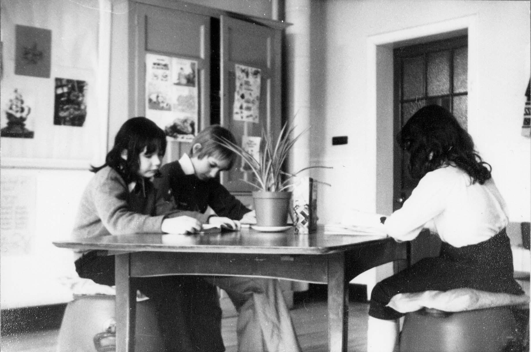 Pupils Reading At Craigmillar Primary School 1970s