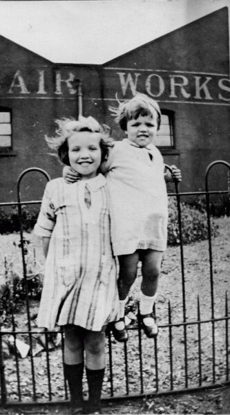 Two Young Sisters Outside St Clair Works 1925