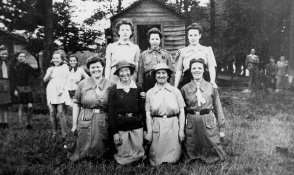 Senior Guiders At Girl Guide Camp 1934