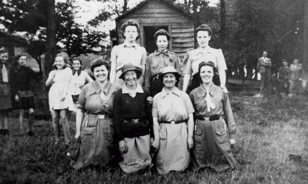 Senior Guiders Of Guthrie Memorial Church At Girl Guide Camp 1934