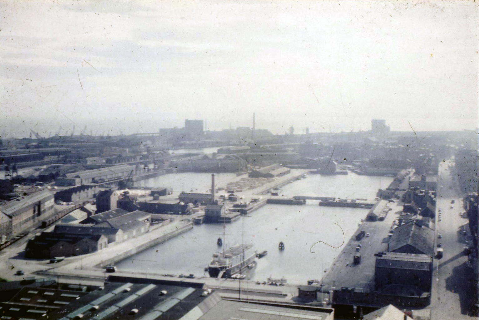 View Of Leith Docks Looking East 1950s