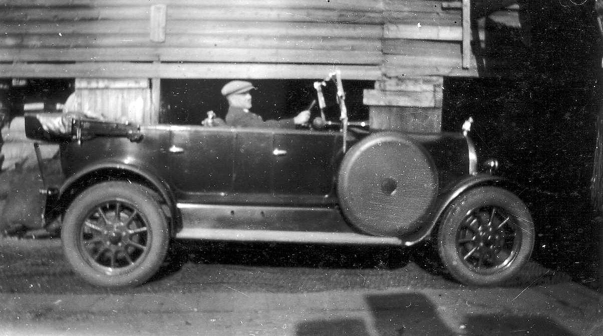 Man Behind Wheel Of Motorcar At Newhaven Place 1928