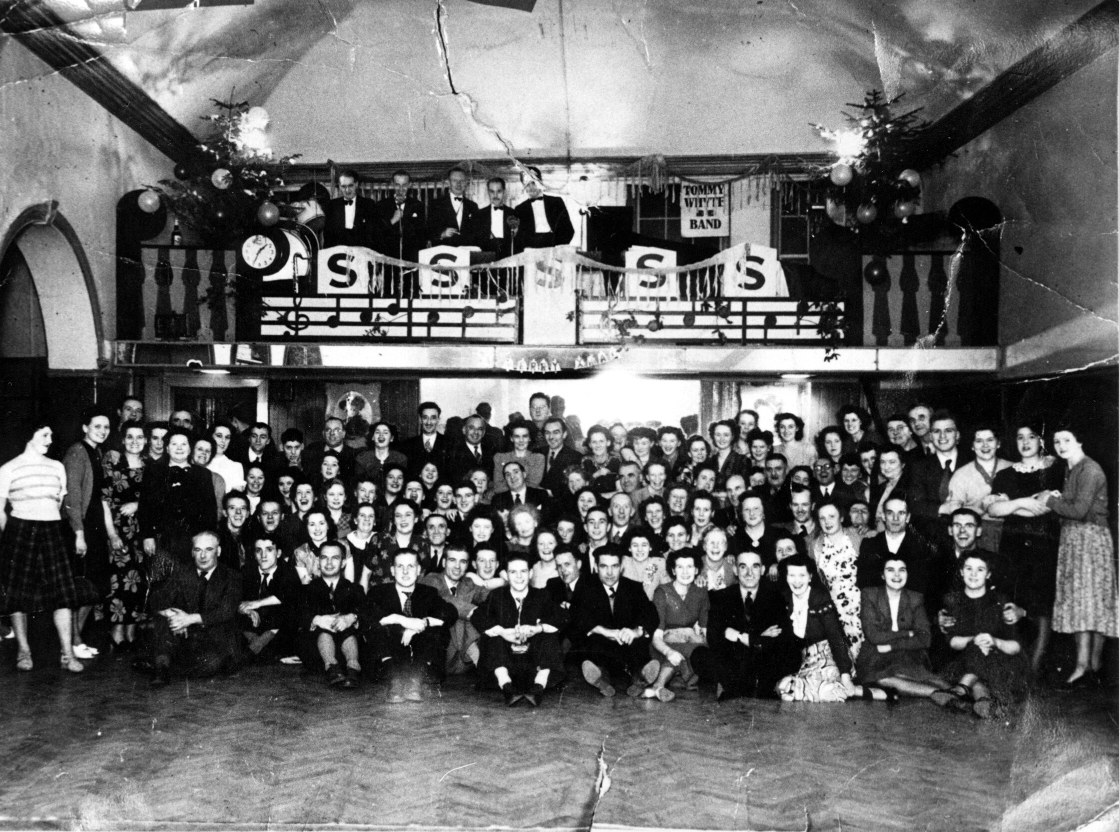 Stewart's Ballroom Staff Christmas Party 1950