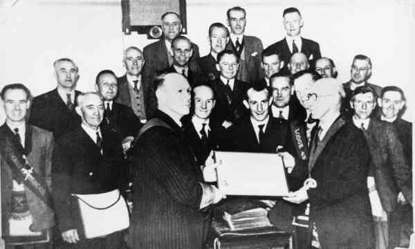Masonic Lodge 433 St Thomas Kilwinning Members 1940s