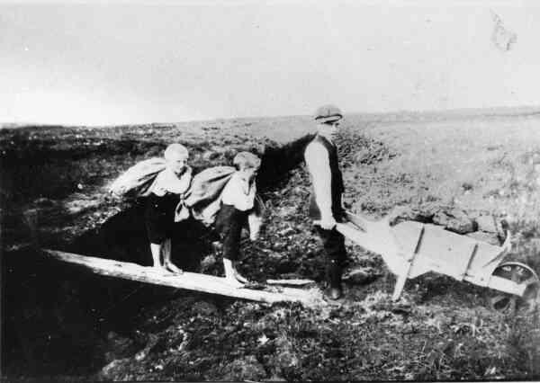 Bringing Home The Peat c.1910