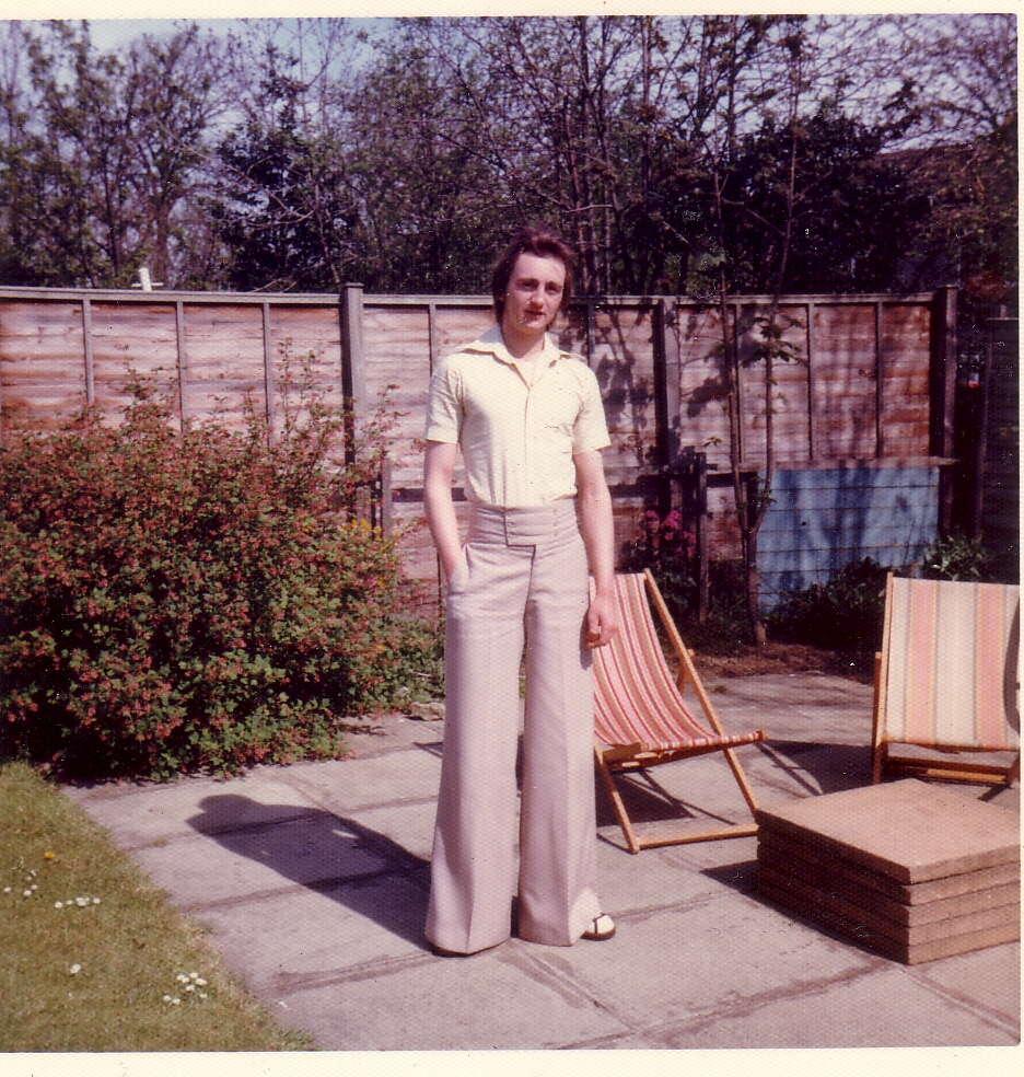 Young Man Standing On Patio In Back Garden c.1972