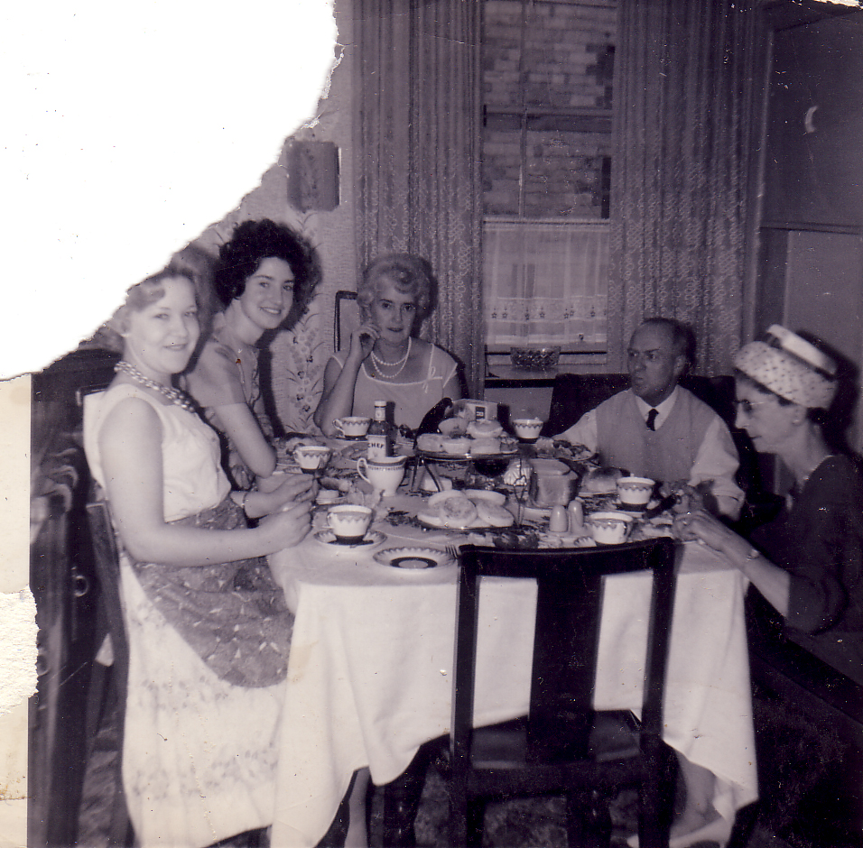 Family Around The Dinner Table 1950s