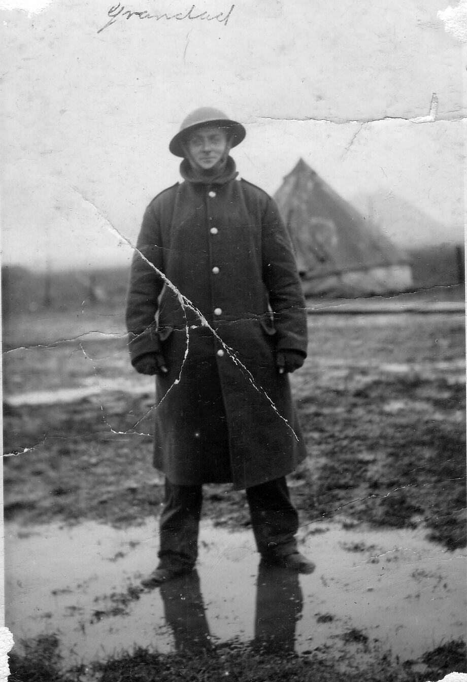 Soldier Standing In Muddy Field 1942