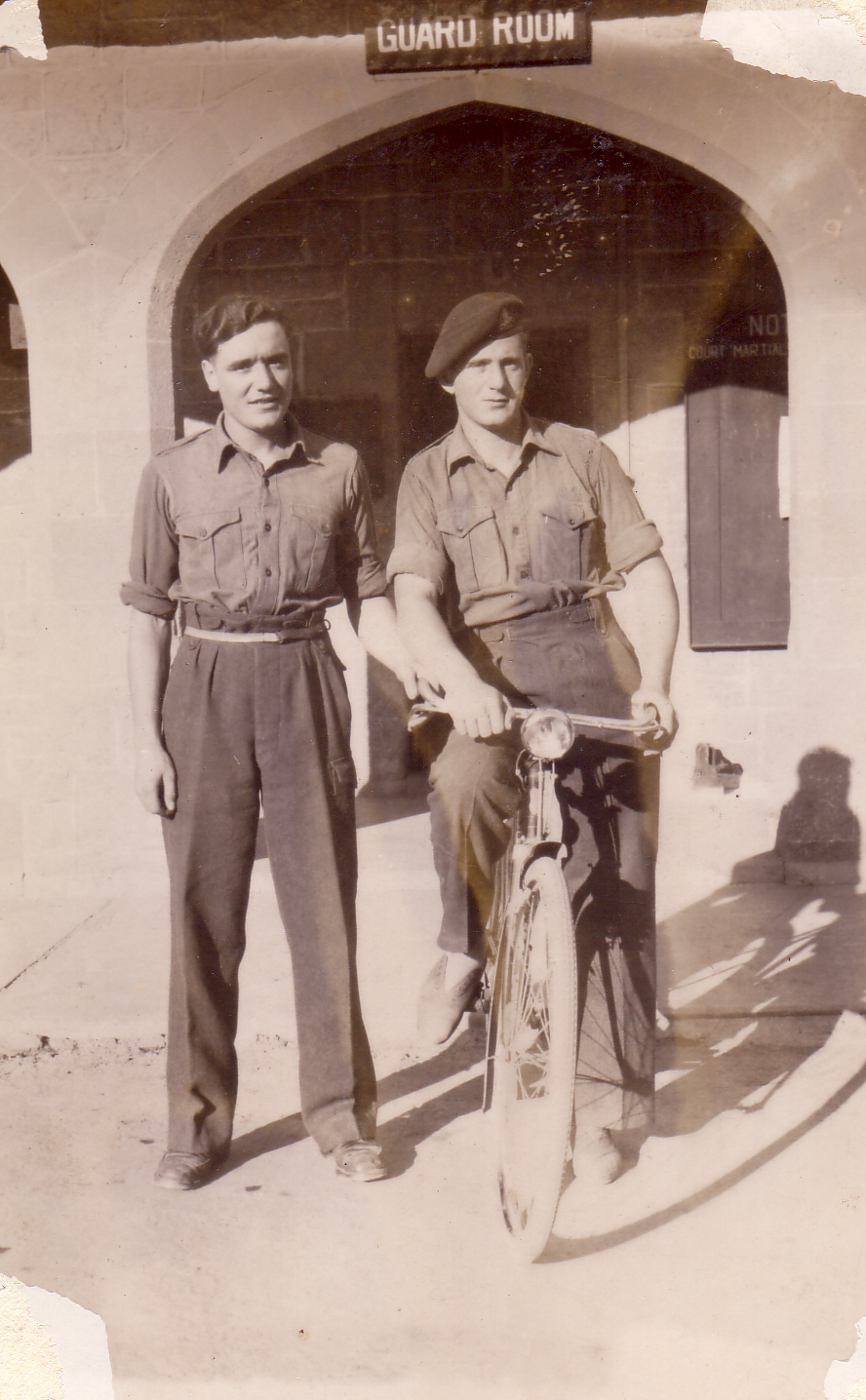 Two Off-Duty Soldiers At Entrance To Guard Room 1950