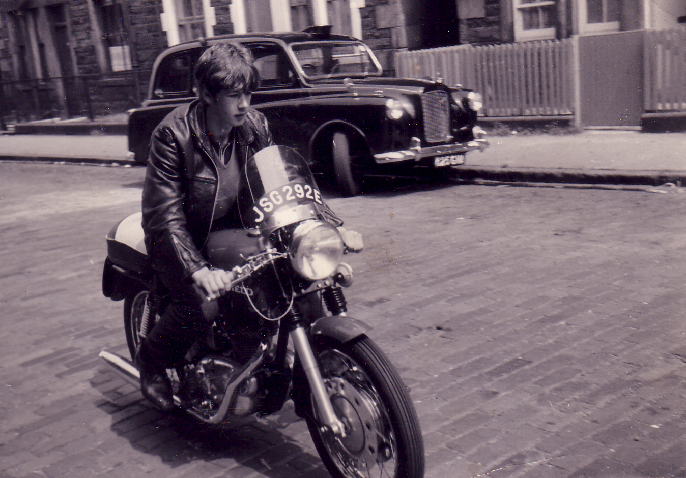 Young Man On Motorbike c.1967