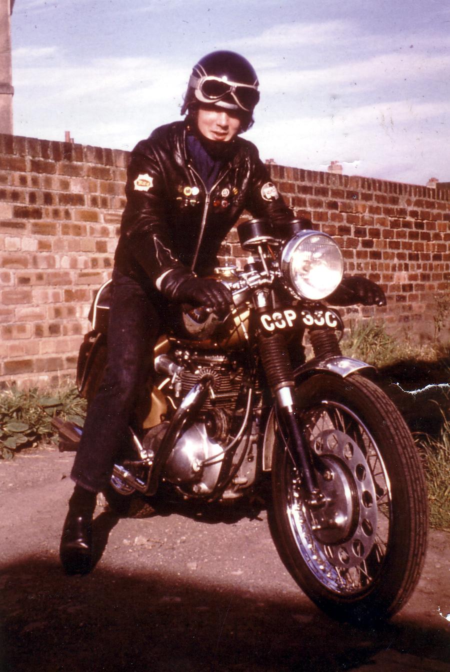 Motorcyclist On His Bike 1969