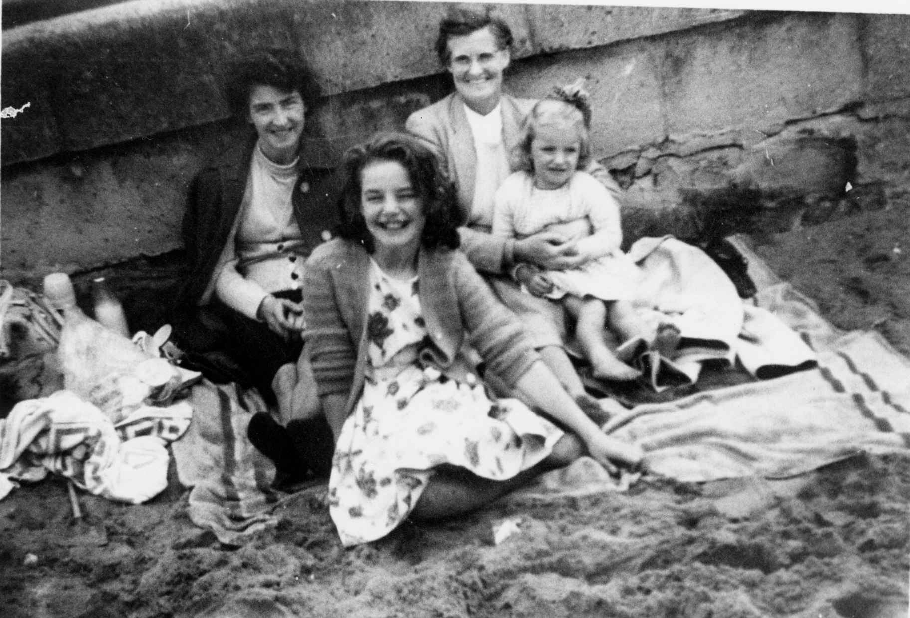 Family Picnic At Portobello Beach 1950s