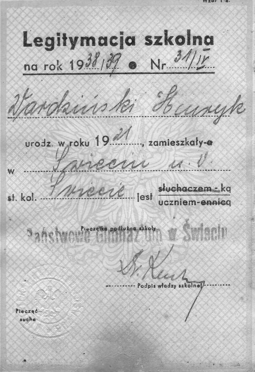 Polish Schoolboy Identity Card c.1939