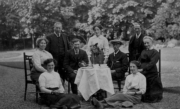 Drinking Tea Alfresco c.1910