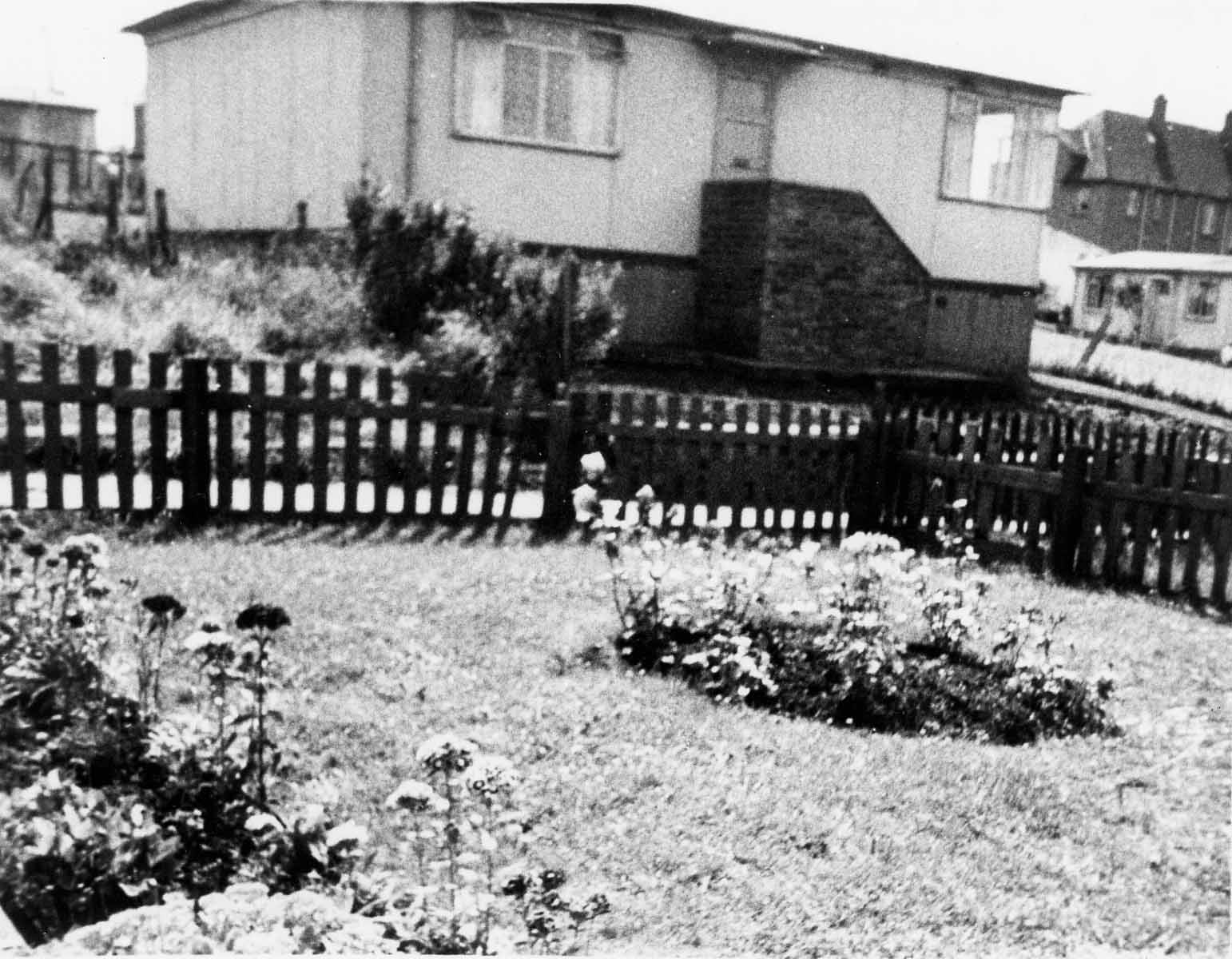 Prefab House And Garden At Moredun 1950s
