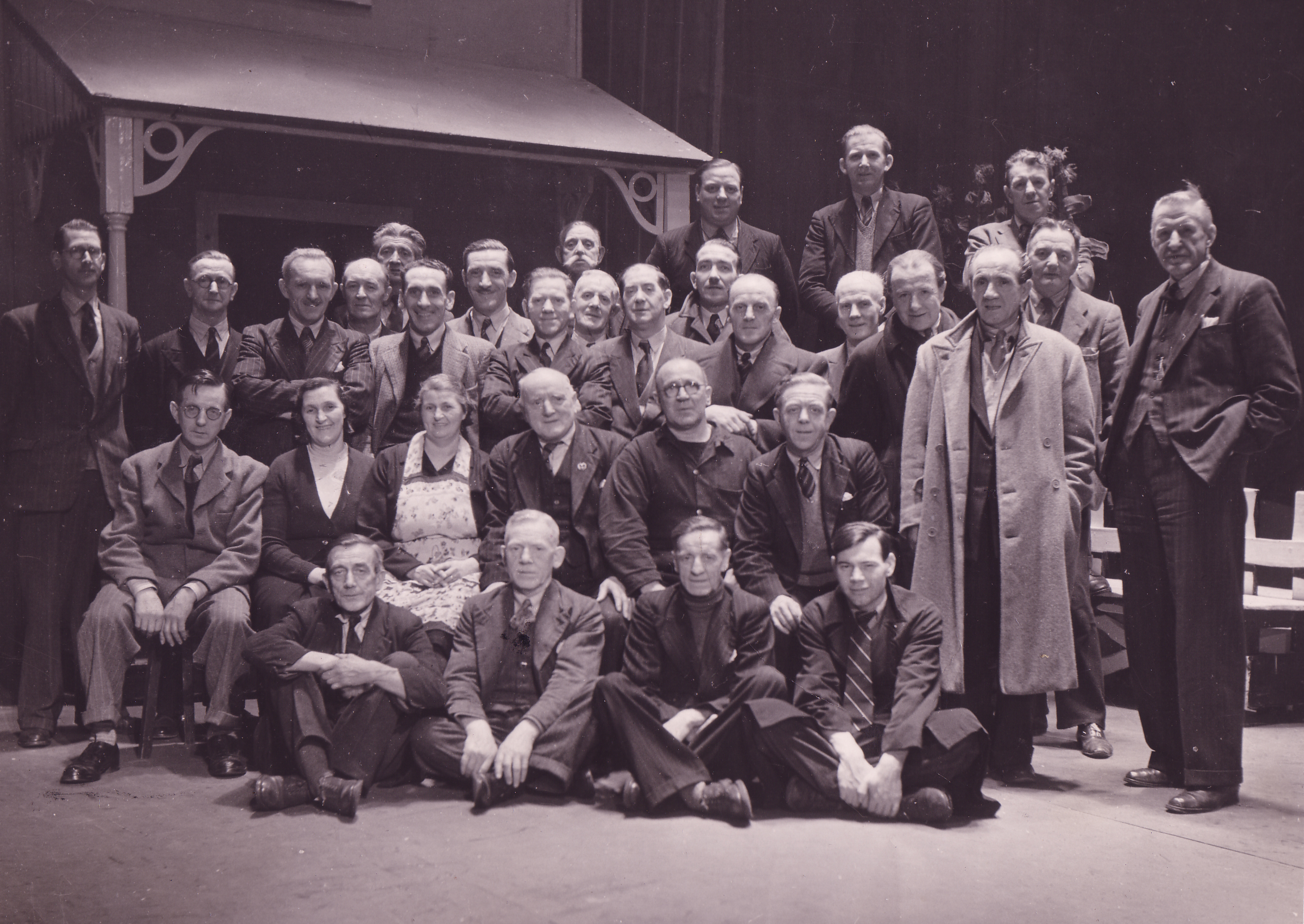 Theatre Crew On Stage King's Theatre c.1950