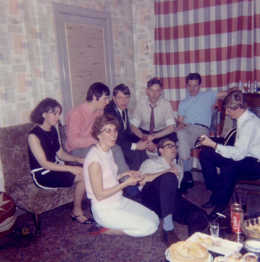 Musical Get Together In Living Room At 10 Bellevue Street c.1962
