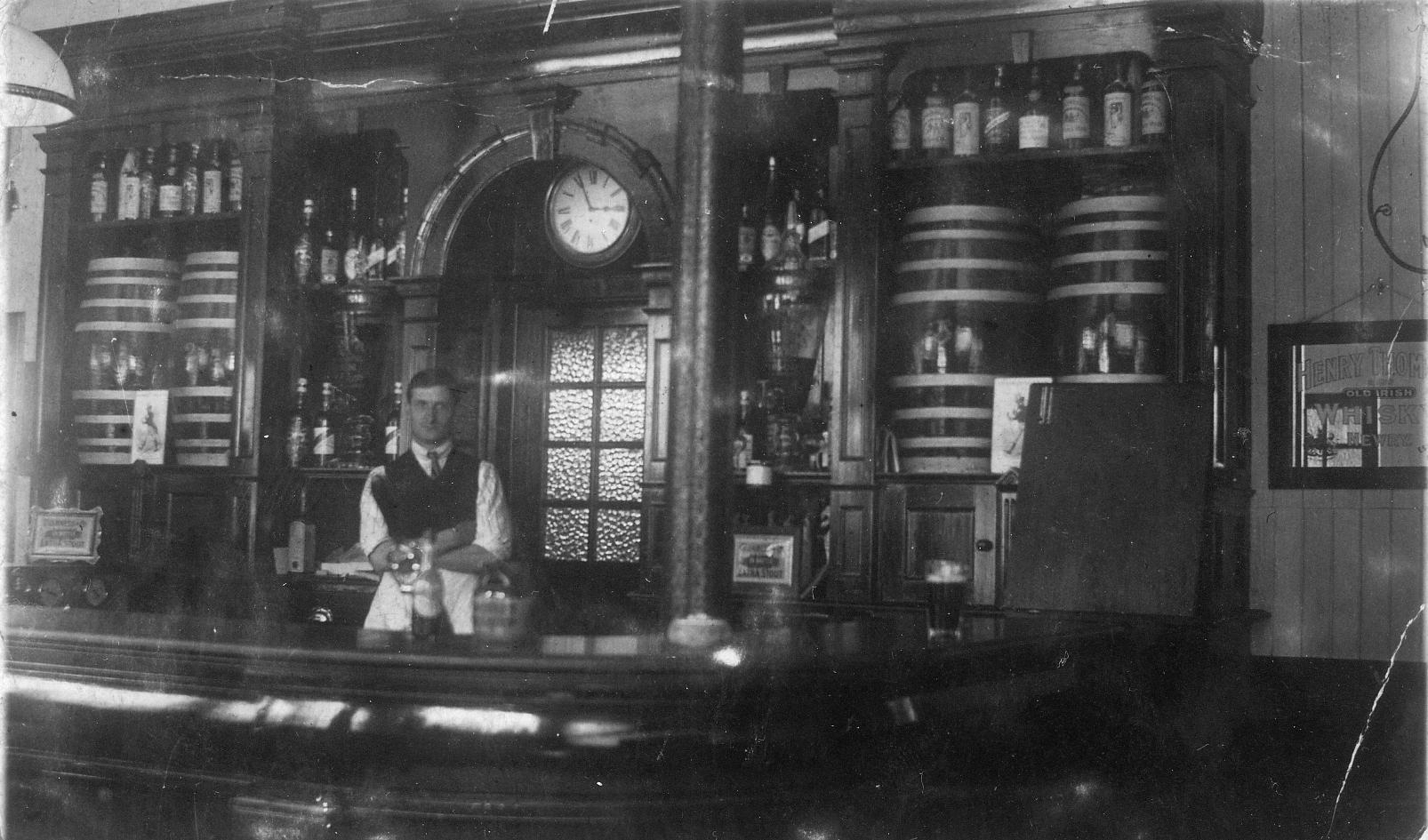 Barman Behind The Bar c.1910